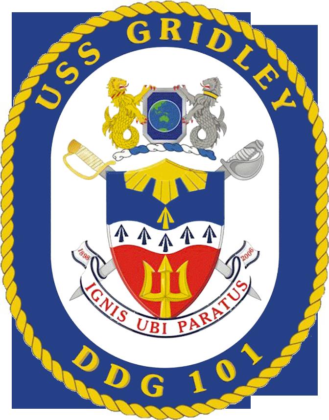 USS Gridley DDG-101 Crest