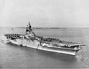 Operation Beleaguer - USS ''Princeton'' off Tsingtao in 1948.