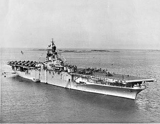 USS Princeton (CV-37) - Princeton off Tsingtao, China, in 1948.