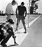 USS Yorktown (CVS-10) flight deck repainting for ToraToraTora movie 1968.jpg