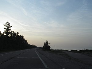 Pure Michigan Byway - Image: US 23 and Lake Huron 2