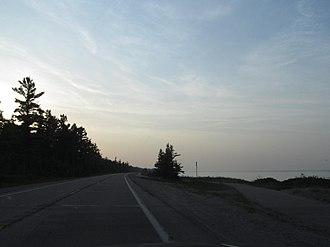 Pure Michigan Byway - Image: US 23 and Lake Huron 2