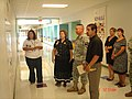 US Army 51072 Faculty of Venable Village elementary school take Lt. Col. Gerald Boston, commander of the 2nd Battalion, 7th Cavalry Regiment, 4th Brigade Combat Team, 1st Cavalry Division, on a tour of the school.jpg