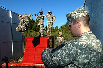 Obstacle course - Leaders Reaction Course September 25, at Fort Hood, Texas.