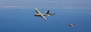 Morón Air Base - US Marines KC-130 refueling AV-8 Harrier of the Spanish Navy near Morón Air Base