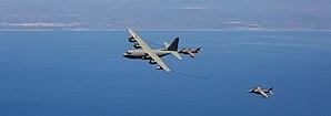 Morón Air Base - US Marines KC-130 refueling AV-8 Harrier of the Spanish Navy near Morón Air Base