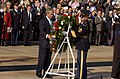 US Navy 041111-G-3024G-790 President George W. Bush lays a wreath at the Tomb of the Unknowns in Arlington National Cemetery, Va., during a Veterans Day ceremony.jpg