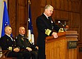 US Navy 071217-N-0606B-004 Chief of Naval Operations Adm. Gary Roughhead addresses the ROTC graduates of Purdue University in West Lafayette during a Tri-Service Commissioning Ceremony.jpg