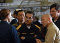 US Navy 080728-N-0998G-039 Vice Adm. Gustavo Jordan Astaburuaga and Capt. Neil Parrott speak with the ship's legal officer.jpg
