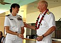 US Navy 090317-N-5174T-013 Adm. Robert F. Willard thanks Lt. Heather Beal during an Individual Augmentee awards luncheon.jpg
