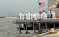 US Navy 090603-N-0738H-003 Sailors assigned to Naval Air Station Pensacola render honors to the Spanish Navy training ship Juan Sebastian de Elcano.jpg