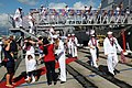 US Navy 100208-N-3666S-105 Sailors depart the guided-missile destroyer USS O'Kane (DDG 77) during the ship's homecoming to Joint Base Pearl Harbor.jpg