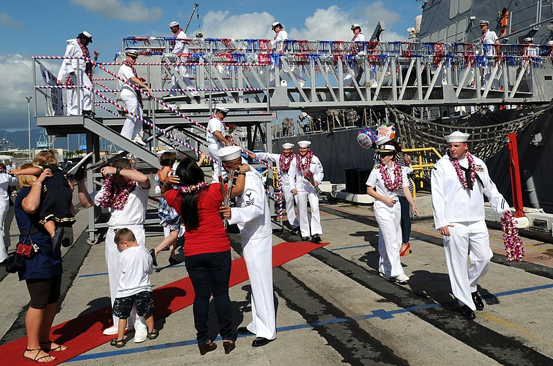 Families welcome sailors