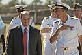 US Navy 110709-N-CZ945-490 U.S. Ambassador to Australia Jeffery L. Bleich, left, and Vice Adm. Scott Van Buskirk share a laugh at the opening cerem.jpg