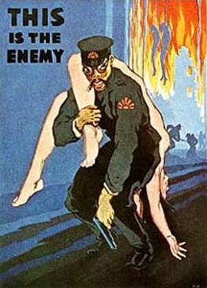 Enemy - War-time propaganda representation of an enemy