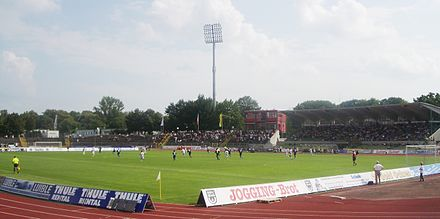 The Donaustadion is the stadium of football club SSV Ulm 1846 Ulm Donaustadion 1.jpg