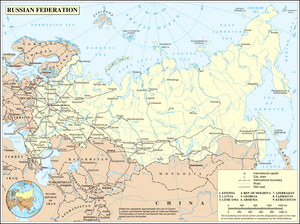 Outline of Russia - An enlargeable map of the Russian Federation