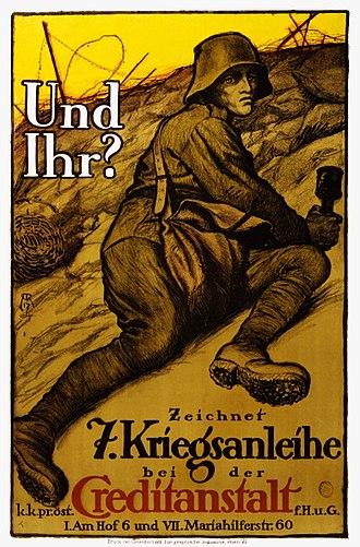 War bond - Austrian poster promoting war bonds (1917)
