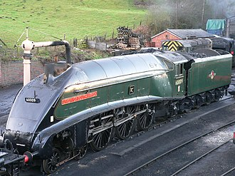 Nigel Gresley - LNER Class A4 4488 Union of South Africa, a classic Gresley design, restored.