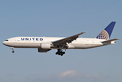 Boeing 777-200ER der United Airlines