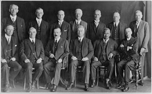 Harry Atmore - Atmore (seated first on left) in the United cabinet, 1928.