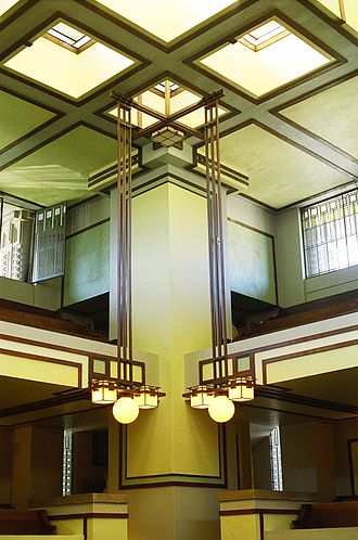Unity Temple - Interior of Unity Temple.