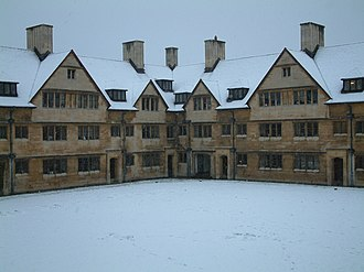 Wills Hall - The Old Quad in the snow