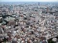Urban sprawl as seen from Tokyo tower towards West.jpg