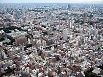 Urban sprawl as seen from Tokyo tower towards West.jpg