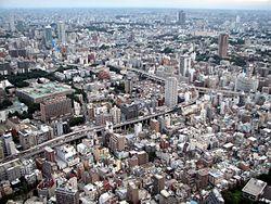 Metropolitan area in Western Tokyo as seen from Tokyo Tower