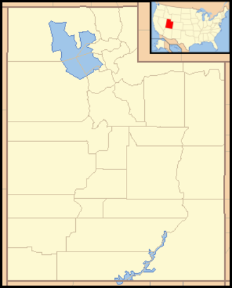Red Fleet State Park - Image: Utah Locator Map with US
