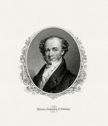 BEP engraved portrait of Van Buren as President.