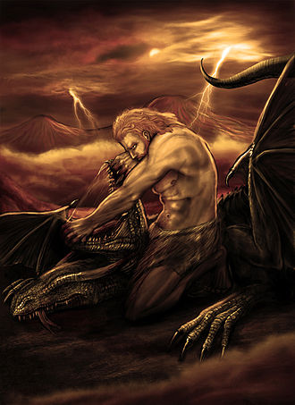 Armenian mythology - Modern depiction of Vahagn the dragon slayer.