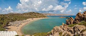Vai (Crete) - Panorama of Vai beach