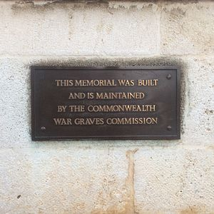 Malta Memorial - Plaque informing the public at the start of the walkway