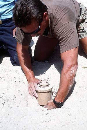 Anti-personnel mine - Italian Valmara 69 bounding type anti-personnel mine