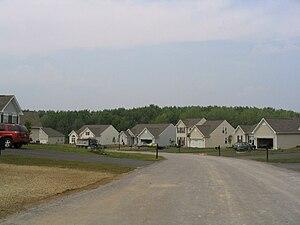 Van Buren, New York - Tract housing in Van Buren