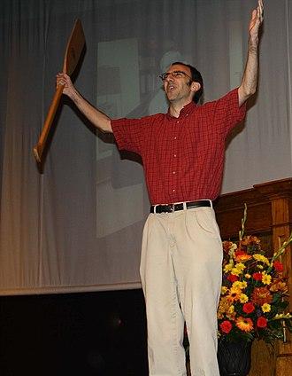 University of Montevallo - Dr. Scott Varagona with the oar