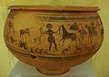 Vas de la domadura, procedent del Tossal de sant Miquel de Llíria, Museu de Prehistòria de València.JPG