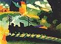 Vassily Kandinsky, 1909 - Murnau train et château.jpg