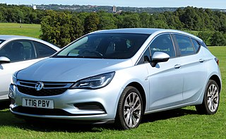 Vauxhall Astra A small family car built by Vauxhall