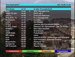 EPG What's on now?