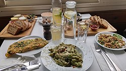 Vegan meal at Anastasya restaurant, Tel Aviv.jpg