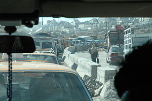 Palestinian freedom of movement - Kalandia checkpoint, August 2004