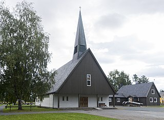 Verdalsøra Chapel Church in Trøndelag, Norway