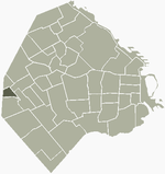 Location of Versalles within Buenos Aires