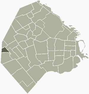 Versalles, Buenos Aires - Image: Versalles Buenos Aires map