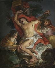 Saint Sebastian Tended by Saint Irene