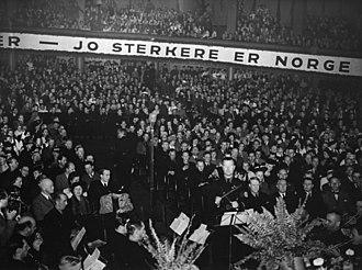 Vidkun Quisling - Quisling in Oslo in 1941