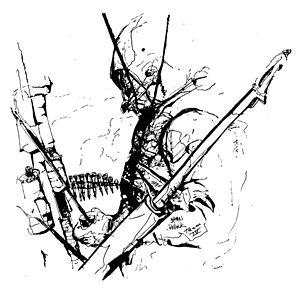 Door gunner - Image: Vietnam Combat Art CAT04James Pollock Door Gunner
